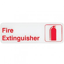 Fire Extinguisher Contemporary Symbol Sign - White