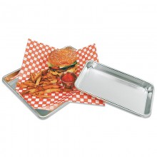 "Update International 6"" x 10"" Aluminum Sheet Pan Serving Tray"