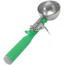 2 2/3 oz. Green Heavy Duty Color-Coded Disher