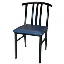 Metal Frame Slatback Chair