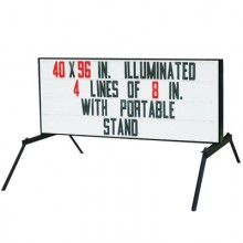 "40"" x 8' Lighted Sign-Complete Portable Outdoor Sign Without Flasher Bar/Arrow"