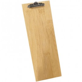 "4 1/2"" X 12 1/2""  Wood Clipboard Menu Holder"