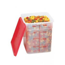 8 Quart CamSquare® Food Storage Container - Clear