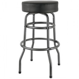 Silver Vein Backless Double Ring Swivel Stool