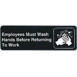 Employees Must Wash Hands Contemporary Symbol Sign