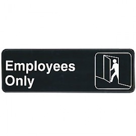 Employees Only Contemporary Symbol Sign