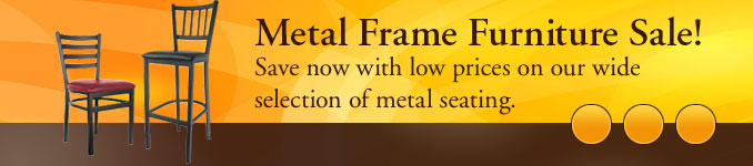 Metal Frame Furniture Sale!