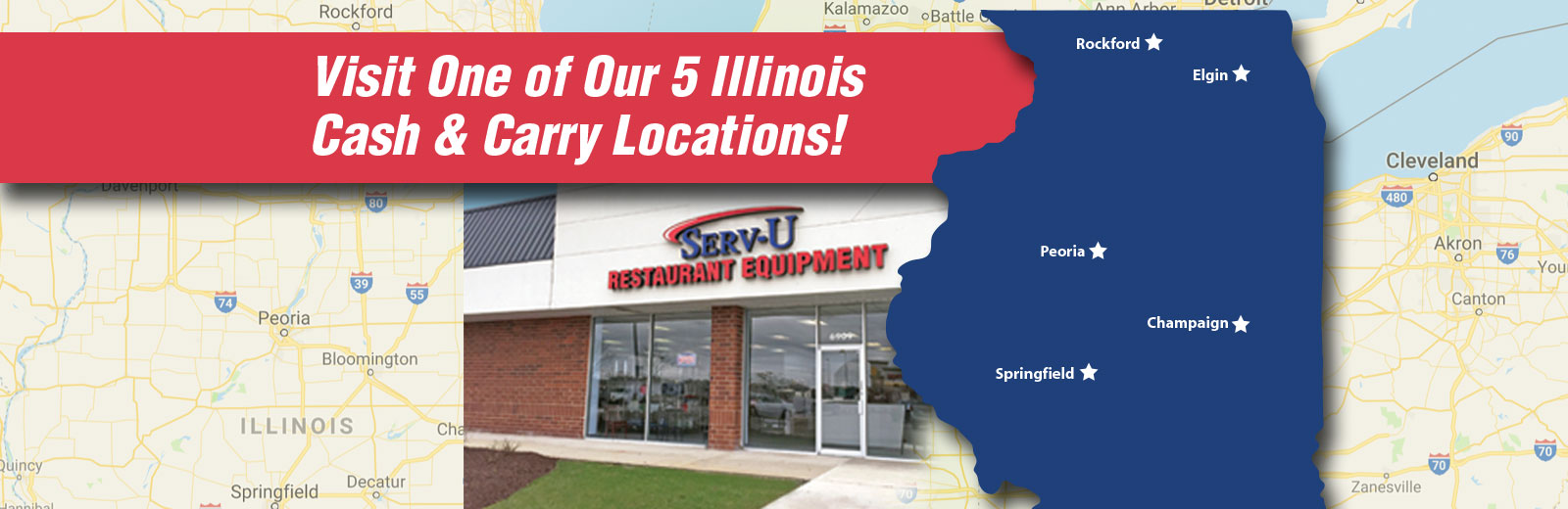 Visit One of Our 5 Illinois Locations