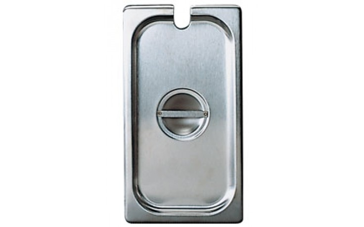 """10 3/8"""" x 12 3/4"""" Half Size Steam Table Pan Slotted Cover"""
