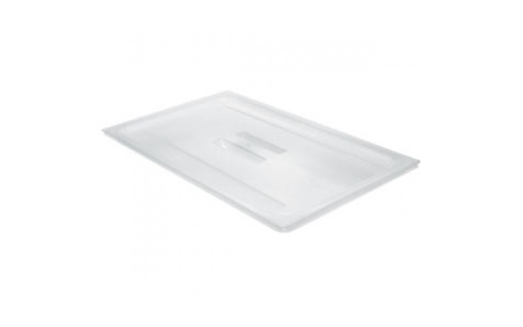 "12 3/4"" x 20 7/8"" Full Size Translucent Food/Storage Pan Cover with Handle"