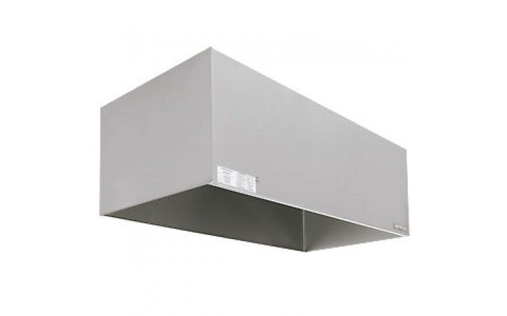 3' x 4' 304 Stainless Steel Exhaust Only Condensate Hood (Complete) with Fan