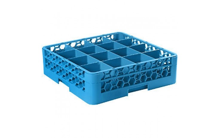 """5 9/16"""" H 16 Compartment Opticlean™ Glass Rack"""