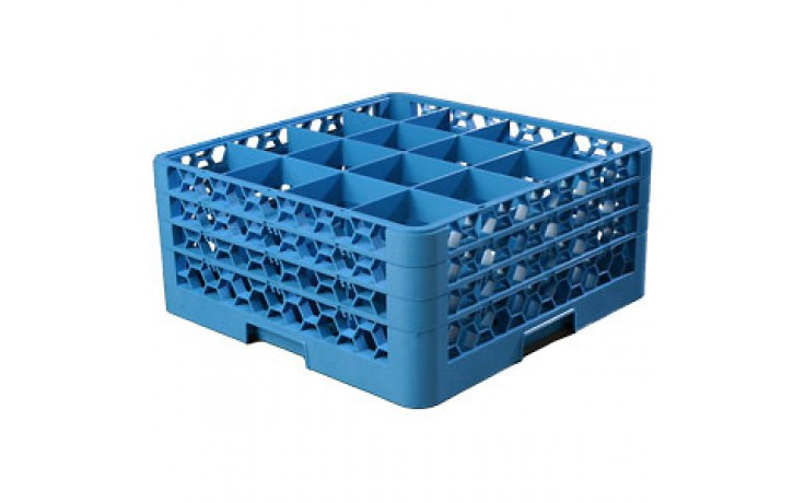 """8 11/16"""" H 16 Compartment Opticlean™ Glass Rack"""