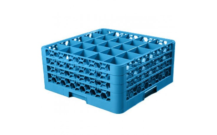 """8 11/16"""" H 25 Compartment Opticlean™ Glass Rack"""