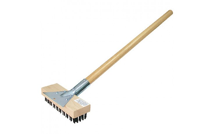 """30"""" Oven/Grill Brush and Scraper with 40"""" Handle"""