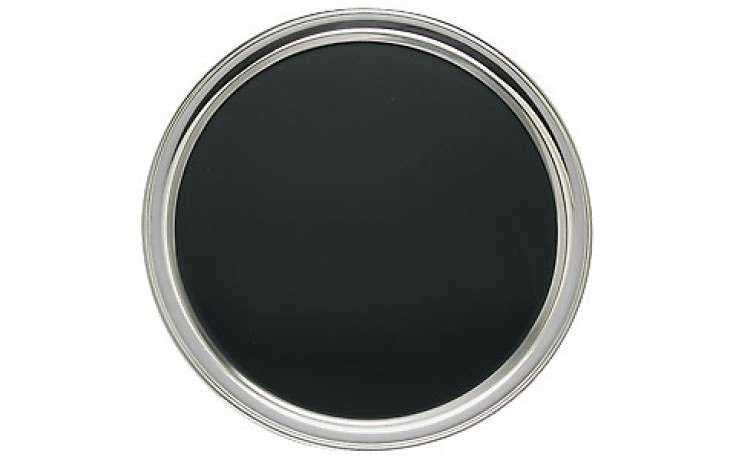"""12"""" Tray with Black PVC Lined Stainless Steel Tray"""