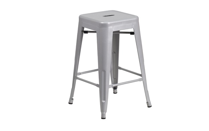 Indoor-Outdoor Vintage Backless Counter Stool