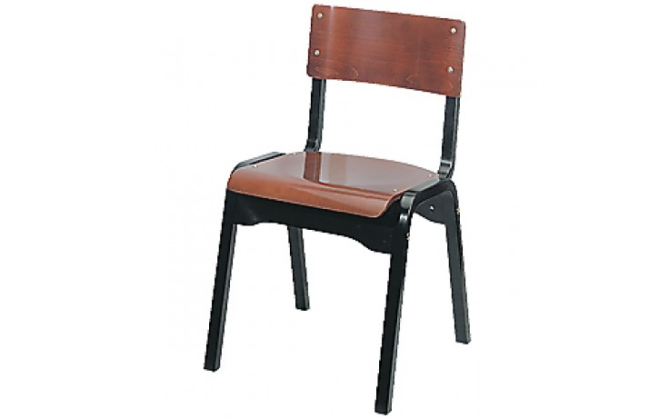 Two Tone Wood Stacking Chair