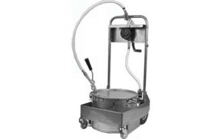 50 lb. Capacity Filter Machine/Discard Trolley with Drain Valve