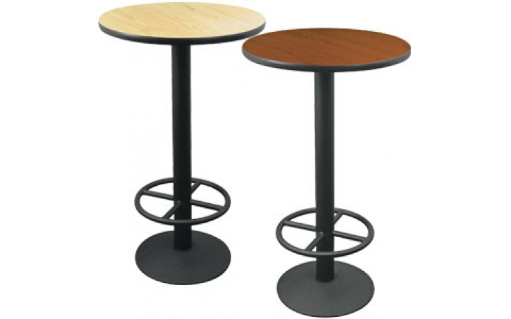 """24"""" Round Complete Double-Sided Ringed Stand-Up Base Table"""