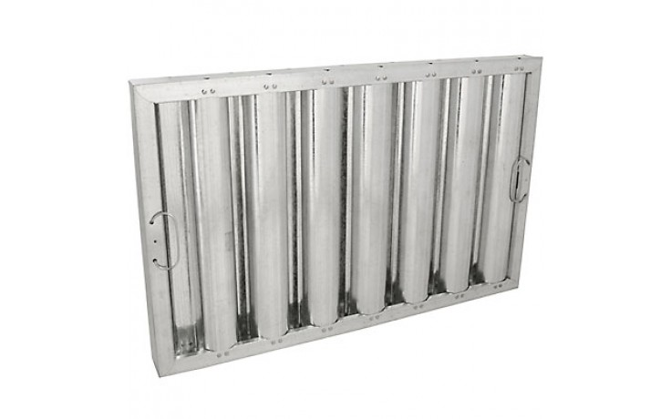 "16"" H x 25"" W Galvanized Baffle Grease Filter"