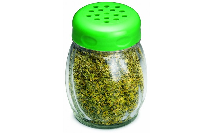 6oz. Glass Shaker w/ Perforated Plastic Top