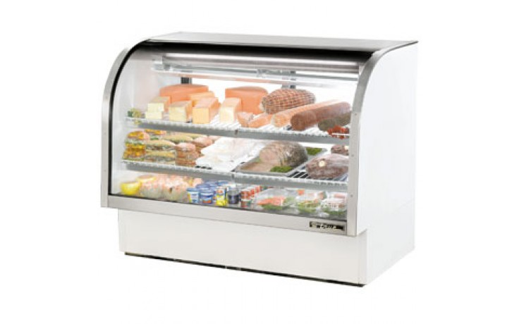 """60 1/4"""" W 30 Cubic Ft Standard Curved Glass Deli Case"""