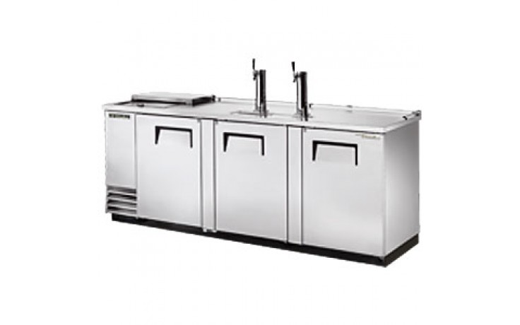 """90 3/8"""" Wide Club Top Direct Draw Beer Dispensers - Stainless Steel"""