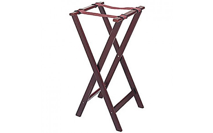 """32"""" Standard Height Deluxe Wood Tray Stand"""
