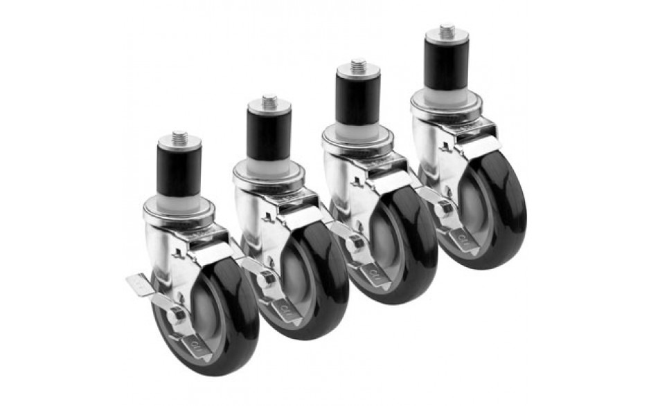 Caster for Single Oven Set of 4, 2 w/Brakes