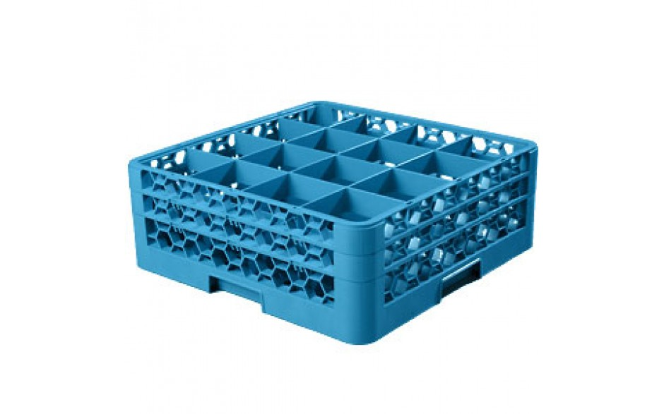 """7 1/8"""" H 16 Compartment Opticlean™ Glass Rack"""