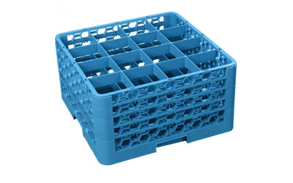 """10 5/16"""" H 16 Compartment Opticlean™ Glass Rack"""