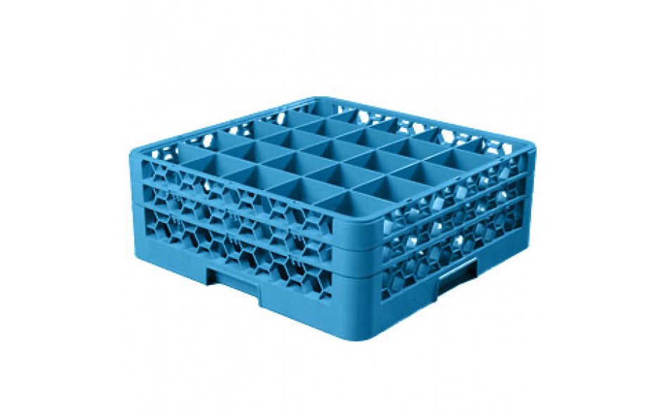"""7 1/8"""" H 25 Compartment Opticlean™ Glass Rack"""