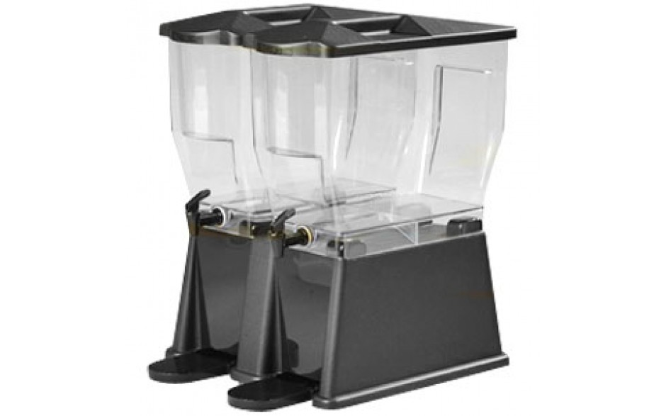 Economical Polycarbonate Twin Bowl Beverage Dispenser
