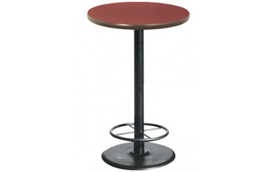 """30"""" Round Complete Double-Sided Ringed Stand-Up Base Table"""
