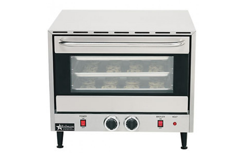 3 Pan Half Size Rack Countertop Convection Oven with Broiler