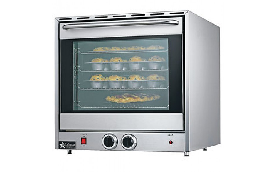 4 Pan Full Size Rack Countertop Convection Oven with Steam Injector