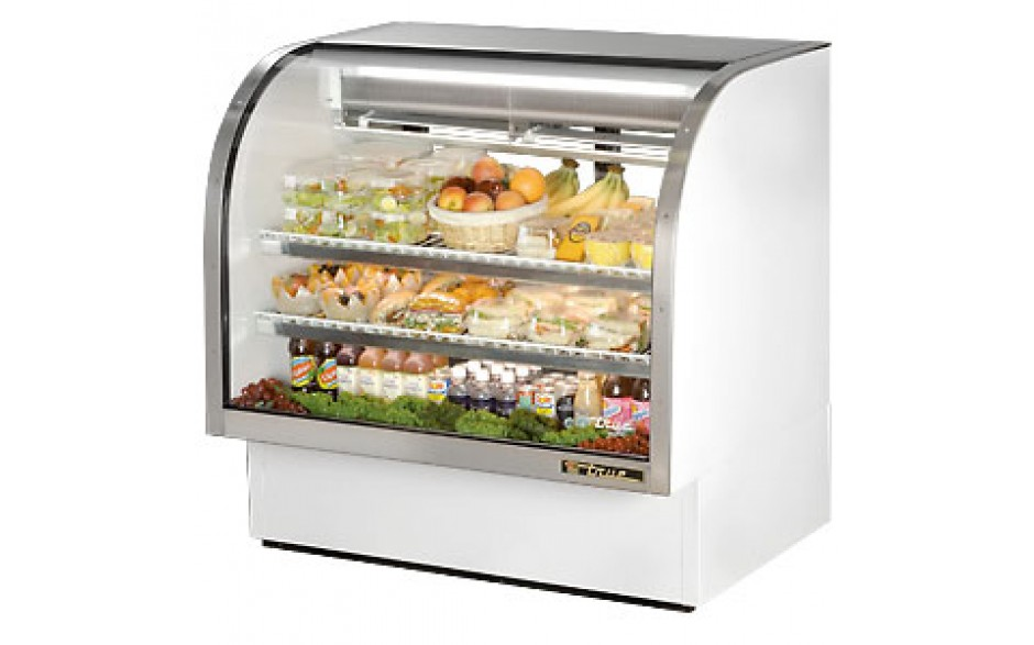 """48 1/4"""" W 23.5 Cubic Ft Standard Curved Glass Deli Case"""