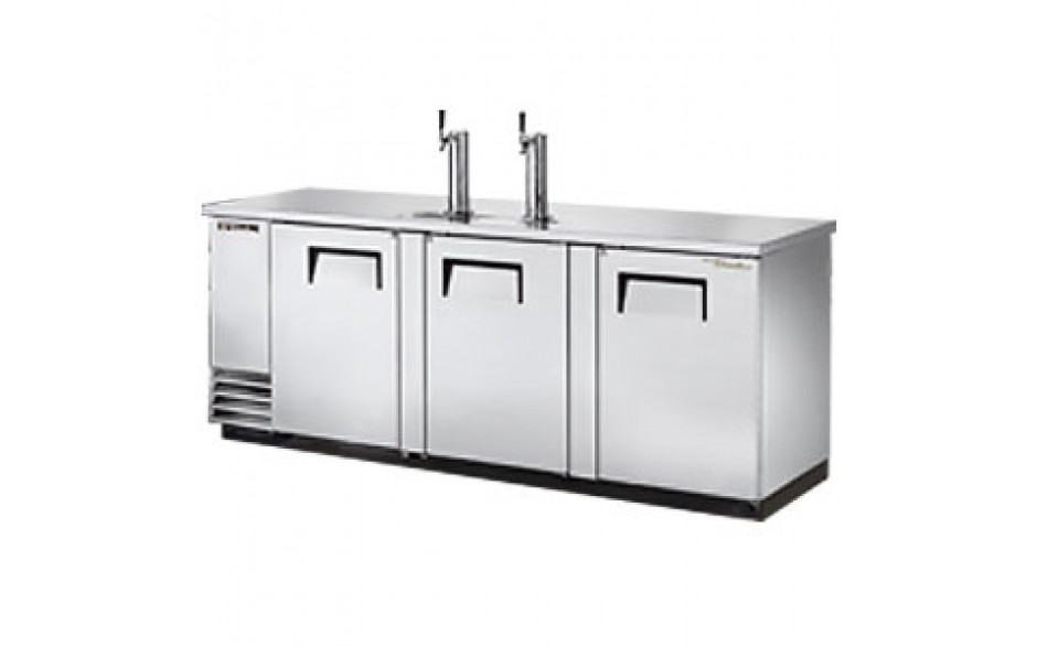 "90 3/8"" Wide Direct Draw Draft Beer Dispenser - Stainless Steel"