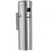 "12"" H Wall Mount Aluminum Cigarette Receptacle"