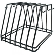Color-Coded Cutting Board Black Rack