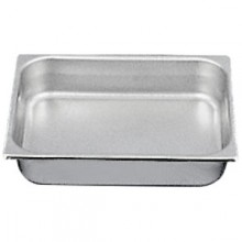 "10 3/8"" x 12 3/4"" x 4"" Half Size Steam Table Pan"