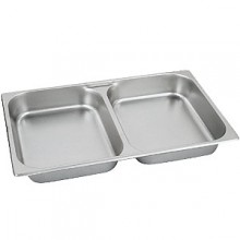 """2 1/2"""" D Full Size Divided Food Pan"""