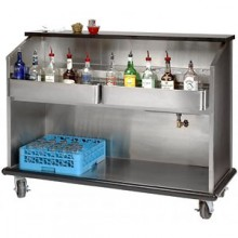 6' L Open Back Ambassador Portable Bar