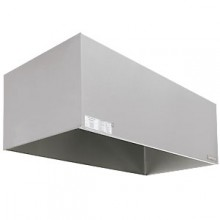 4' x 5' 304 Stainless Steel Exhaust Only Condensate Hood (Complete) with Fan