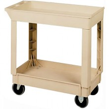 2 Shelf Cart Utility Cart - Beige
