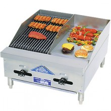 "12"" Griddle 12"" Charbroiler Combination Griddle/Charbroiler"