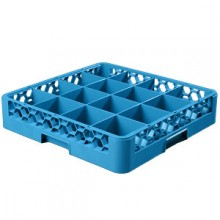 "4"" H 16 Compartment Opticlean™ Glass Rack"