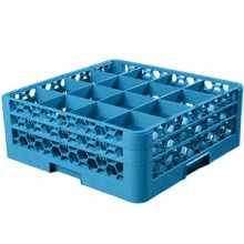 "7 1/8"" H 16 Compartment Opticlean™ Glass Rack"
