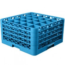 "10 5/16"" H 25 Compartment Opticlean™ Glass Rack"